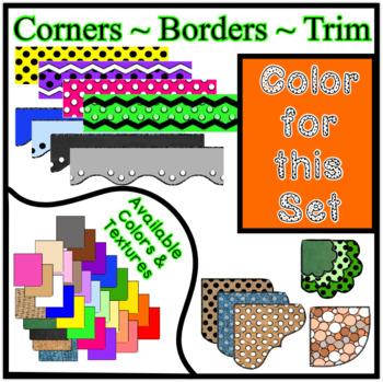 Orange Borders Trim Corners * Create Your Own Dream Classroom / Daycare *