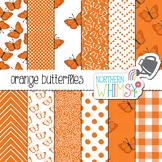 Orange Butterfly Digital Paper