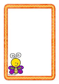 Orange Butterfly Worksheets