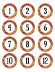 Orange Camouflage Dot Labels