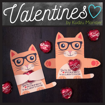 Orange Cat Valentine Hugger