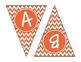 Orange Chevron Alphabet Banner Set (upper & lowercase, numbers 0-9)