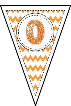 Orange Chevron Alphabet Bunting