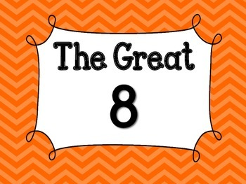 Orange Chevron Bordered Great 8
