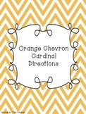 Orange Chevron Cardinal Directions