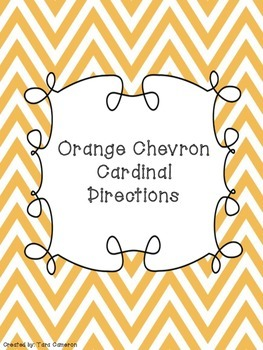 Orange Chevron Cardinal Directions