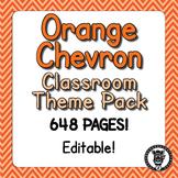 Classroom Theme Decor / Organization - Mega Bundle (Editable!) - Orange Chevron
