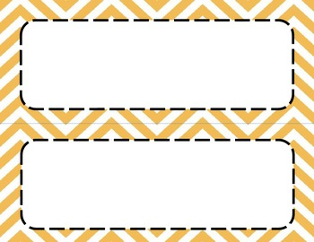 Orange Chevron Classroom Tags and Labels
