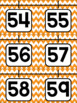 Orange Chevron Number Posters 0-20