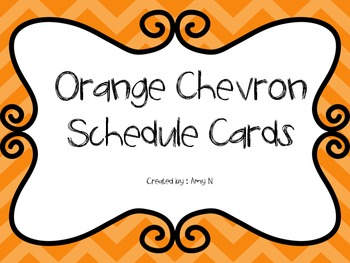 Orange Chevron Schedule Cards