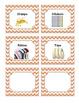 52 Orange Chevron Supplies Labels