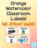 Orange Classroom Labels