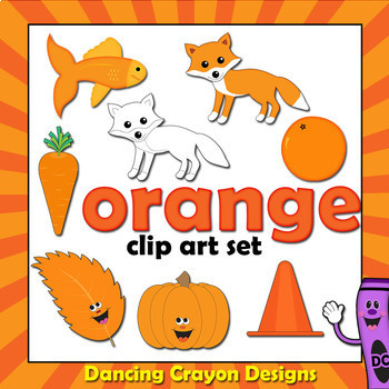 Orange Clip Art - Color Clipart Series Set 2