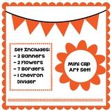 Orange Clip Art Set - Borders, Frames, Banners & Page Divider