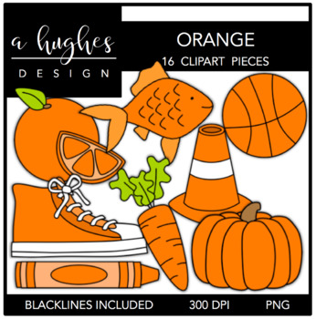 Orange Color Clipart {A Hughes Design}