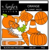 Orange Color Clipart {A Hughes Design}