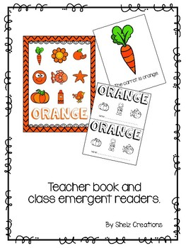 Orange (Color) Emergent Reader and Teacher Book