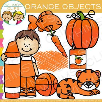 Orange Color Objects Clip Art