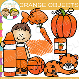 Orange Color Objects Clip Art