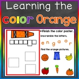 Orange Color Recognition Color Word Boom Cards (Learning C