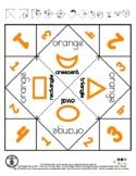 Orange Color & Shapes - Cootie Catcher Fortune Teller - 1 pg *o