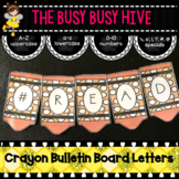Orange Crayon Bulletin Board Letters