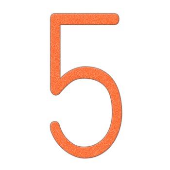 Alphabet Clip Art Orange Crayon Look  Numerals, Punctuation Marks & Math Symbols