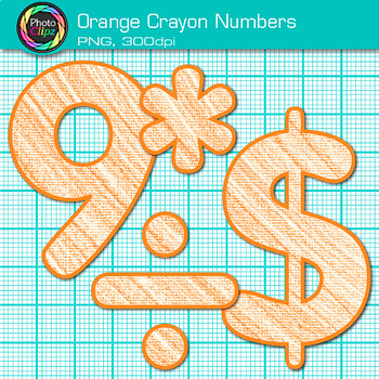 Orange Math Numbers Clip Art {Great for Classroom Decor & Resources}