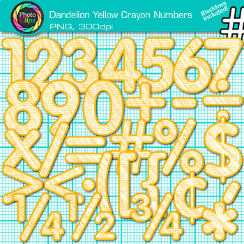 Dandelion Yellow Math Numbers Clip Art {Great for Classroo