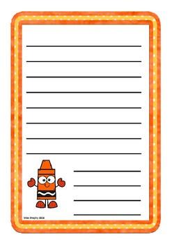 Orange Crayons Worksheets