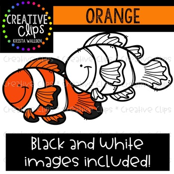 Orange Objects Clipart {Creative Clips Clipart}