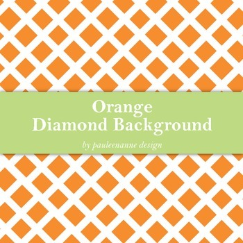 Orange Diamond Pattern Background