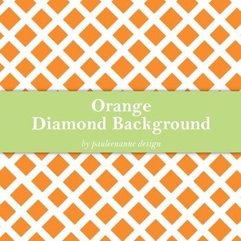 Orange Diamond Pattern Background