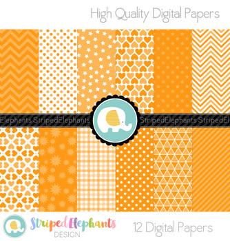 Orange Digital Papers
