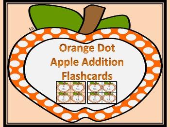 Orange Dot Apple Addition Flashcards 0-12