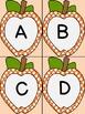 Orange Dot Apple Alphabet Letter Flashcards