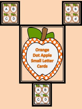 Orange Dot Apple Alphabet Letter Flashcards