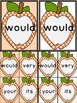 Orange Dot Apple Dolch Second Grade Sight Word Flashcards and Posters