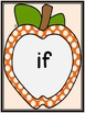 Orange Dot Apple Dolch Third Grade Sight Word Flashcards and Posters