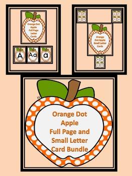 Orange Dot Apple Alphabet Letter Flashcards and Posters Bundle