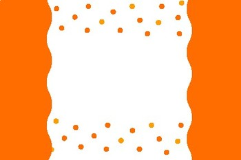 Orange Dot Blank Editable Label Flashcards