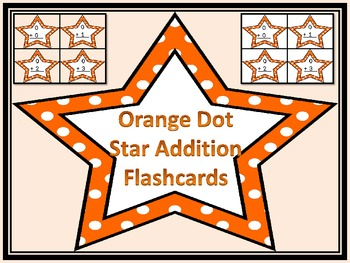 Orange Dot Star Addition Flashcards 0-12