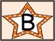 Orange Dot Star Alphabet Letter Posters