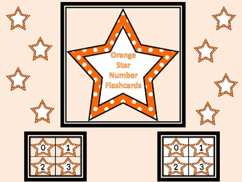 Orange Dot Star Number Flashcards 0-100