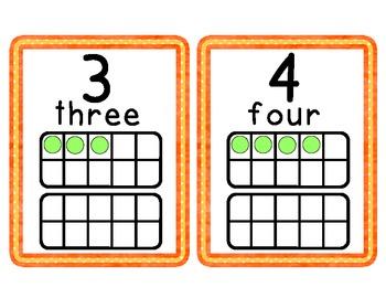 Orange Dots Number Cards 1-20
