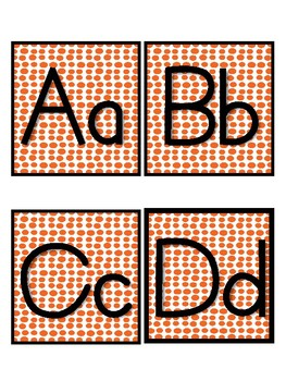 Orange Dots Word Wall Letters