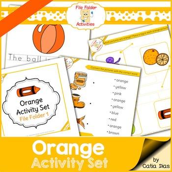Orange - File Folder Activity Set