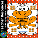 Orange Frog Alphabet Letter Flashcards