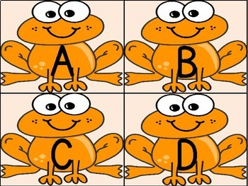 Orange Frog Alphabet Letter Flashcards