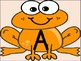 Orange Frog Alphabet Letter Posters / Word Wall Headers